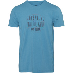 North Bend Vertical Camiseta Hombre, blue capri